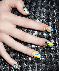 Top Down, Volume Up! Colorful Pattern #Nails