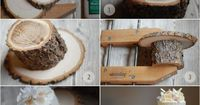 DIY Rustic Wedding Cake Stand -