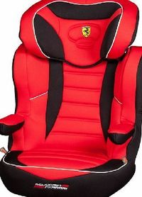 Nania R-Way SP Car Seat Ferrari Rosso 2014 Nanias Rway Booster Ferrari Red is a high backed booster with adjustable head support height. Swivel arm rests gives your easy access for getting your child in and out. Side impact protection will kee http://www....