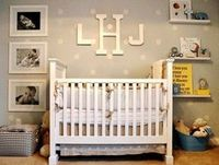 Like the large black and white photos on the side of the crib.