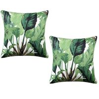 Traveler's Palm Green Pillow Pair by Ryan Studio $390.00