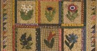 Primitive Applique Patterns Free | Primitive Folk Art Wool Applique Quit Pattern: LITTLE BUDS