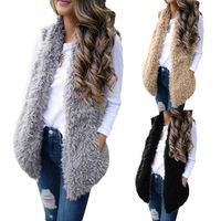 Ladies Women Sexy Lady Faux Fur Solid Casual Sleeveless Warm Vest Waistcoat $18.00