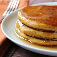 "Pumpkin Pancakes | ""These are good any season but taste best on cold winter mornings. You can use canned or cooked fresh pumpkin."""