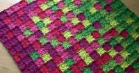 Crocheting: Flying Colors Blanket ~ pattern available
