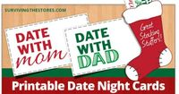 Print out date night cards to put in their stockings for dates with mom and dad throughout the year!