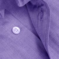 Lavender Herringbone Cotton Shirt �'�1599.00