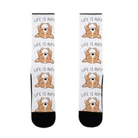 Life Is Ruff Corgi US Size 7-13 Socks $16.99 �œ� Handcrafted in USA! �œ� Support American Artisans