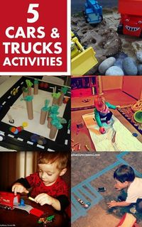 My boys like things with wheels. So its often the center of many of our activities. Its just easier to include them then try to get the boys interested in a com
