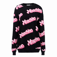 Moschino Barbie Womens Long Sleeves Sweater Black