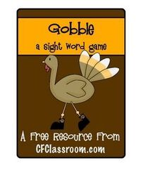 GOBBLE: A FREE Sight Word Game. I created this game to help my own first grade son practice his assigned sight words from the Dolch List. It's super easy to prepare and a lot of fun for our little friends to play.