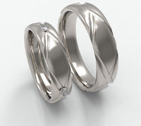 Wedding bands diamond for the ladies and plain for the Gents 14 karat white yellow rose gold, set and individual anniversary wedding bands $573.00