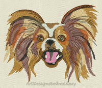Embroidery dog papillon, machine embroidery design, dog design, dog pattern, dog lover, embroidered dog, embroidery our Pets, animal pattern $6.90