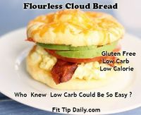 Amazing Cloud Bread! Gluten free, low carb and low calorie! A must try for anyone trying to lean up for the sunny months ahead! #fitness #exercise #lowcarb #glutenfree
