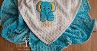 Elephant Personalized Minky Baby Blanket, Personalized Minky Baby Blanket, Personalized Baby Gift, Elephant Appliqued Minky Baby Blanket by LullabyGardens on Etsy