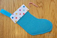 American Girl Doll Stocking with Candy by TheShopOnLeightonAve