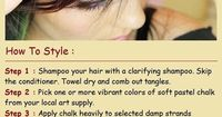 Get Creative With Hair Chalking. FOR ANYONE WHO WANTS SOMETHING LIKE DIP DYE YOU NEED TO USE THIS INSTEAD. DIP DYE STAINS YOUR HAIR( ESPECIALLY FOR BLONDES) THIS STUFF IS MUCH BETTER TO USE AND IT IS MUCH CHEAPER