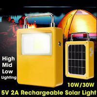 Rechargeable Solar LED COB Light Solar Power Bank USB Phone Battery Charger