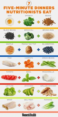 GENIUS meals nutritionists make when they're short on time.