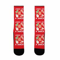 What Do You Think of This? �œ� Handcrafted in USA! �œ� Looking Like A Snack Christmas Cookies US Size 7-13 Socks $15.99