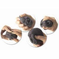 Black & White Funny Face Distress Silicone Squeeze Ball $12.58