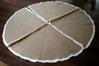 burlap christmas tree skirt....although i would never pay this much for it...it is precious!
