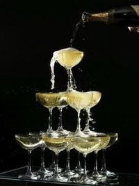 How to Build a Champagne Tower. Champagne towers are often seen at weddings and other fancy events. Professionals are often brought in to build the tower, howev