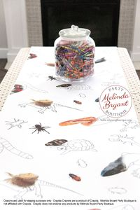 Reptile Party Coloring Page Table Runner Birthday Decorations Lizard Themed Decor Tablecloth Snake Theme Boys Parties Games Craft Activity $25.88