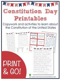 Free Constitution Day Printables