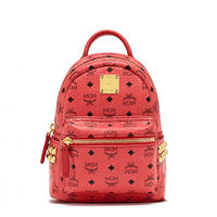 MCM X-Mini Stark Side Studded Backpack In Red