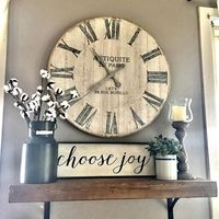 Hello Thursday! Hope everyone is having a fantastic day. Just sharing a little shot of this beautiful clock in our living room. It's rustic wood and metal numbers give it just the right amount of an industrial feel. Have a great afternoon and remember...