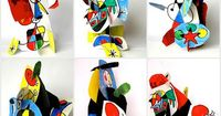 arteascuola: Three dimensional Mirò..cool video tutorial for this fun sculpture project