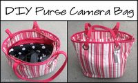 Make your own camera bag out of a purse!