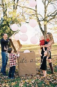 Balloon Gender Reveal. What good is pinterest if you don't steal other people's great ideas? Yep, that's how I roll.