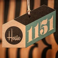 house industries, 1151, hang tag