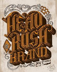HEADRUSH tee shirt DESIGN by MEKA, via Behance