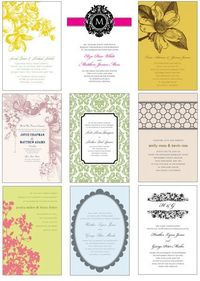 """These pretties are all FREEBIES �€"""" printable invitation templates you can personalize. New templates are added each weekday."""