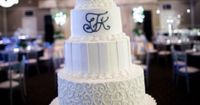 5-Tiered Cake with Piping