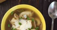 This is one delicious bowl of soup! Warm and satisfying, with tortellini in every bite. Top this with some fresh shaved Parmigiano Reggiano and you'll experienc