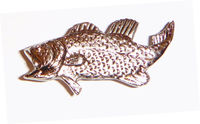 Buck Snort Lodge Decorative Hardware Cabinet Knobs and Pulls Bass -FACING LEFT $12.40