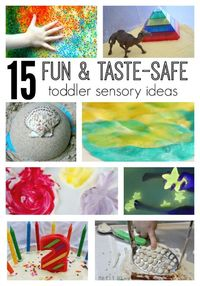 15 Super Fun, Taste Safe Sensory Activities for Toddlers | I love this list of sensory recipes!