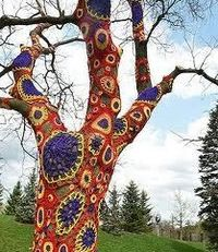 Extreme crochet tree bark