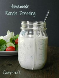Homemade Ranch Dressing {dairy-free} & substitutions - Cooking With Curls