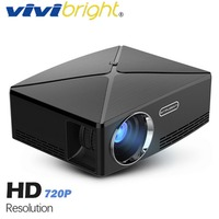 VIVIBRIGHT HD MINI Projector C80. 1280x720 Video Proyector, Support 1080P