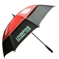 Premiership Football LIVERPOOL FC 62 INCH WINDPROOF UMBRELLA LIVERPOOL FC 62 WINDPROOF UMBRELLA The official Liverpool FC Umbrella- support your team on and off the golf course. Comes in Liverpool FC official Red White amp; Green team colours. http://www....