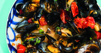 Delicious Cleansing Recipes   Mussels with Wine, Tomatoes, and Herbs