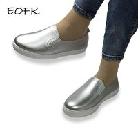 EOFK High Quality Women Flats Loafers Casual Leather Shoes Slip On Shoes Moccasins slipony R594.00