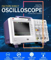 DS-2025CA 25MHz Digital Handheld Oscilloscope Dual Channel USB Interface Color Display Usb Oscilloscopes Osciloscopio