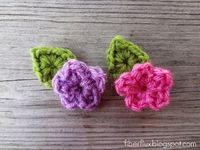 Fiber Flux...Adventures in Stitching: Free Crochet Pattern... One Round Leaf (Stemless) and link to flower pattern.