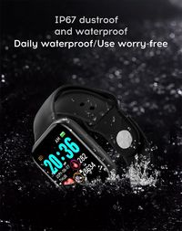 Bakeey Y68 Heart Rate Blood Pressure Monitor Easily USB Charging Multi-sport Modes IP67 Waterproof Smart Watch